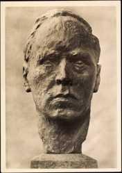 Ak Plastik von Georg Kolbe, Selbstbildnis 1925, Büste