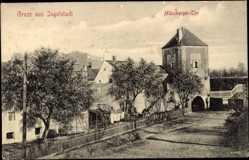 Postcard Ingolstadt, Münzberger Tor, Straße, Wohnhäuser