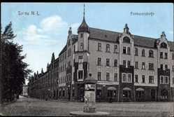 Ak Żary Sorau Ostbrandenburg, Priebuserstraße, Straßenansicht, Bayrischer Hof