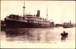 Postcard Séte, Compagnie de Navigation Mixte, Paquebot, Mustapha II,Courrier d'Algérie