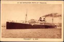 Postcard Paquebot El Biar, Compagnie de Navigation Mixte, Compagnie Touache