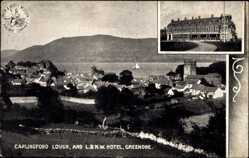 Postcard Greenore Irland, Carlingford Lough, and L& N.W. Hotel