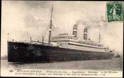 Postcard Boulogne sur Mer, Paquebot Rotterdam, HAPAG