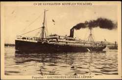 Postcard Paquebot Gouverneur Generale Lepine, Cie de Navigation Mixte, Touache