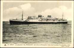 Postcard Oran, Paquebot El Mansour, Compagnie de Navigation Mixte