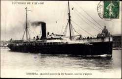 Postcard Paquebot Djurjura, Compagnie de Navigation Mixte, Cie Touache