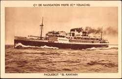 Postcard Paquebot El Kantara, Dampfschiff auf See, Compagnie de Navigation Mixte