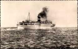 Postcard Paquebot Kairouan, Dampfschiff auf See, Compagnie de Navigation Mixte