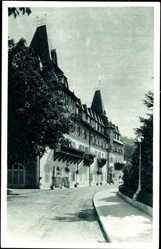 Postcard Bled Veldes Slowenien, Park Hotel, Straßenpartie