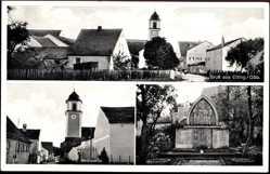 Postcard Etting Ingolstadt Oberbayern, Kirche, Glockenturm, Kriegerdenkmal