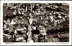 Postcard Moosburg an der Isar im Kreis Freising, Blick auf den Ort, Fliegeraufnahme