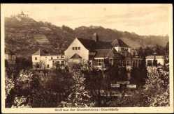 Ansichtskarte / Postkarte Oberlößnitz Radebeul in Sachsen, Partie an der Grundschänke