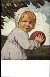 Künstler Ak von Zumbusch, Ludwig, Kind mit dem Ball