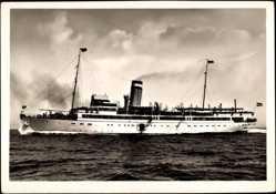 Postcard HAPAG Seebäderdienst, Dampfer Cobra II in Fahrt, Ansicht Backbord