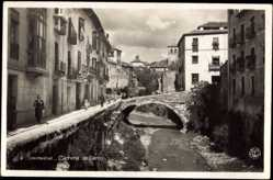 Postcard Granada Andalusien Spanien, Carrera de Darro, Kanal, Brücke