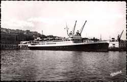 Postcard Alger Algerien, Paquebot El Djezair, Compagnie de Navigation Mixte