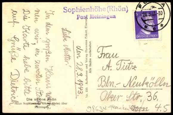 Ansichtskarte Postkarte Frankenheim Rhön b Meiningen