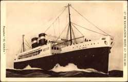 Postcard Paquebot El Goléa, Compagnie de Navigation Mixte