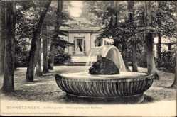 Postcard Schwetzingen im Rhein Neckar Kreis, Schlossgarten, Wasserglocke, Badhaus