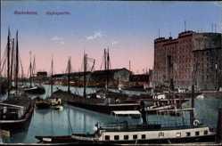 Postcard Mannheim in Baden Württemberg, Blick auf den Hafen