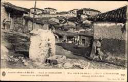 Postcard Monastir Bitala Mazedonien, Guerre 1914, Alentours, Dorfumgebung