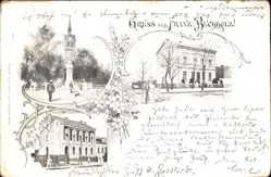 Ak Berlin Pankow Französisch Buchholz, Kirchturm, Postamt