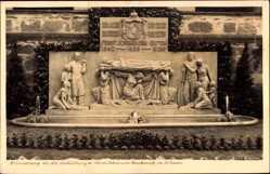 Postcard Schaan Liechtenstein, Enthüllung d. Fürst Johannes Denkmals