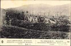 Postcard Bitola Monastir environs Mazedonien, Route de Prilep, Batterie en attente