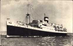 Postcard Paquebot El Mansour, Dampfschiff auf See, Compagnie de Navigation Mixte