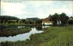 Ak Żary Sorau Ostbrandenburg, Kellermühle, Flusspartie, Gebäude