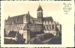 Ak Malbork Marienburg Westpreußen, Hochschloss, Südostecke