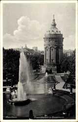Postcard Mannheim in Baden Württemberg, Friedrichsplatz und Wasserturm