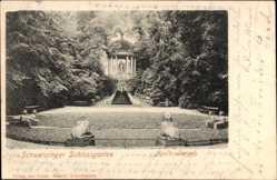 Postcard Schwetzingen im Rhein Neckar Kreis, Schlossgarten, Apollotempel
