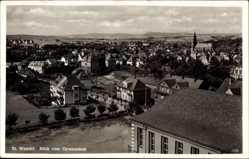 Postcard St. Wendel in Saarland, Blick vom Gymnasium auf die Stadt