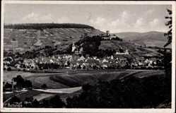 Postcard Beilstein Württemberg, Panorama der Stadt, Burgberg, Felder
