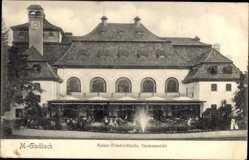 Postcard Mönchengladbach, Gartenansicht auf die Kaiser Friedrichhalle