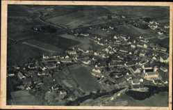 Postcard Petershausen Oberbayern, Fliegeraufnahme von Ort und Umgebung