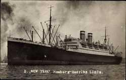 Foto Ak Dampfschiff New York der HAPAG, Ansicht Backbord