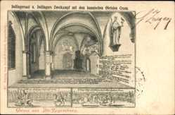 Künstler Ak Regensburg an der Donau Oberpfalz,Dollingersaal,Dollingers Zweikampf
