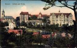 Ansichtskarte / Postkarte Nossen Landkreis Meißen, Schloss und Kirche, Umgebung
