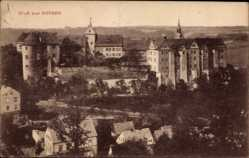 Ansichtskarte / Postkarte Nossen Landkreis Meißen, Blick zum Schloss, Fassade, Häuser
