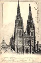 Postcard Regensburg an der Donau Oberpfalz, Blick auf den Dom von Nordwesten