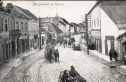 Postcard Kaunas Kowno Kauen Litauen, Straßenpartie, Pferdewagen, Gasthof