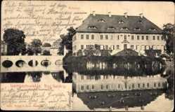Ansichtskarte / Postkarte Lampertswalde Sachsen, Blick auf das Schloss