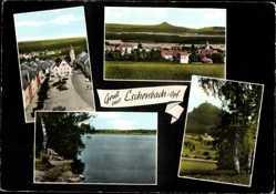 Postcard Eschenbach Oberpfalz, Marktplatz mit Rathaus, St Laurentius, See