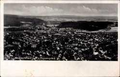 Postcard Neunkirchen an der Blies Saarland, Fliegeraufnahme von der Stadt