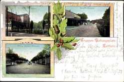 Ansichtskarte / Postkarte Zeithain in Sachsen, Truppenübungsplatz, Senfft Straße, König Albert Straße