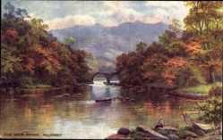 Künstler Ak Killarney Irland, Old Weir Bridge, Alte Brücke, Herbst, Tuck 7260