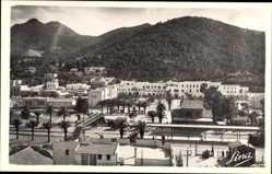 Postcard Hammam Lif Tunesien, Vue partielle et le Bou Kornine, Blick auf den Ort
