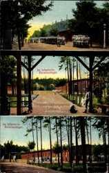 Ansichtskarte / Postkarte Zeithain in Sachsen, Truppenübungsplatz, Barackenlager, Soldaten